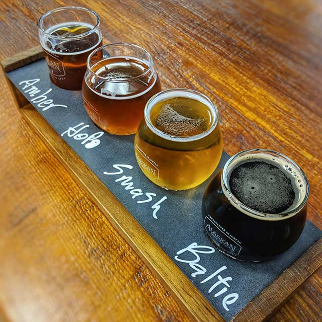 Alaskan Brewing flight