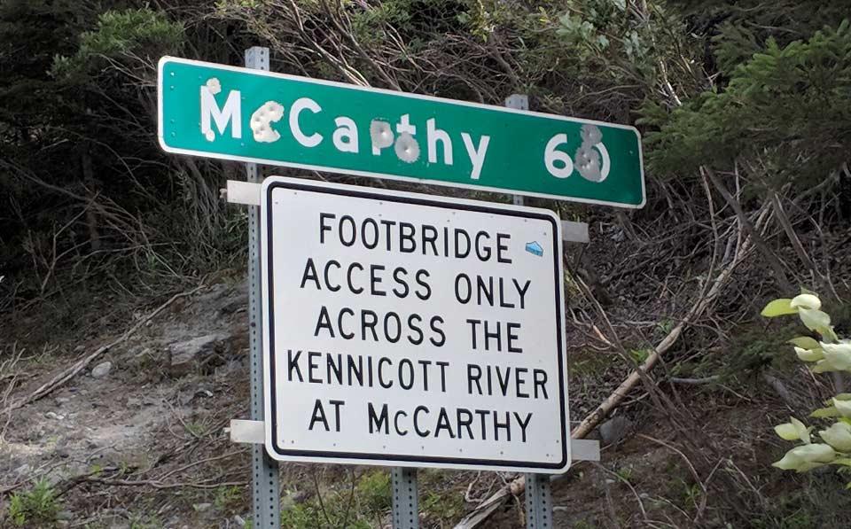 McCarthy Alaska Road Sign