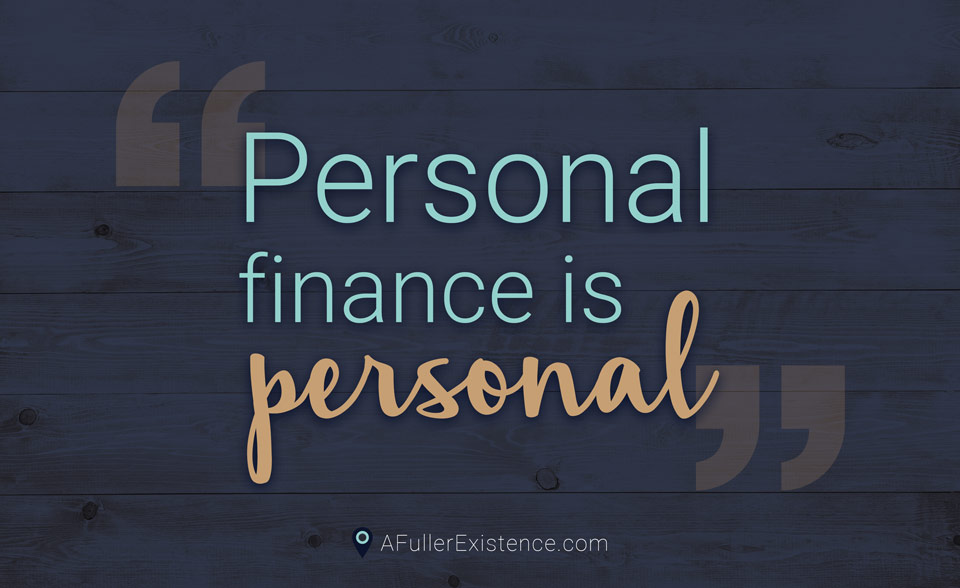 """Personal finance is personal"" quote"